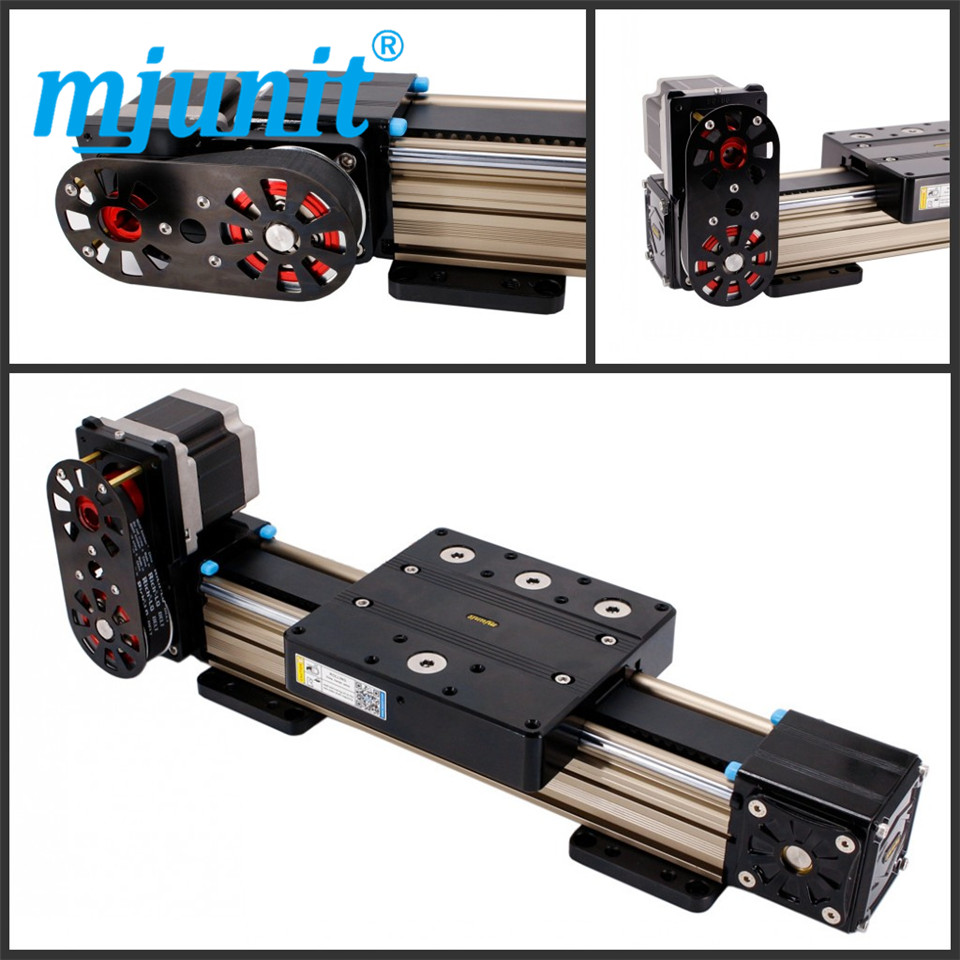 mjunit MJ80 with 900mm stroke length Timing Pulley Reducer belt drive linear rail цена
