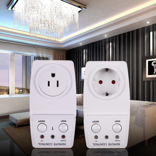115V/60Hz Wireless Remote Control AC Power Outlet Plug Switch US EU ...