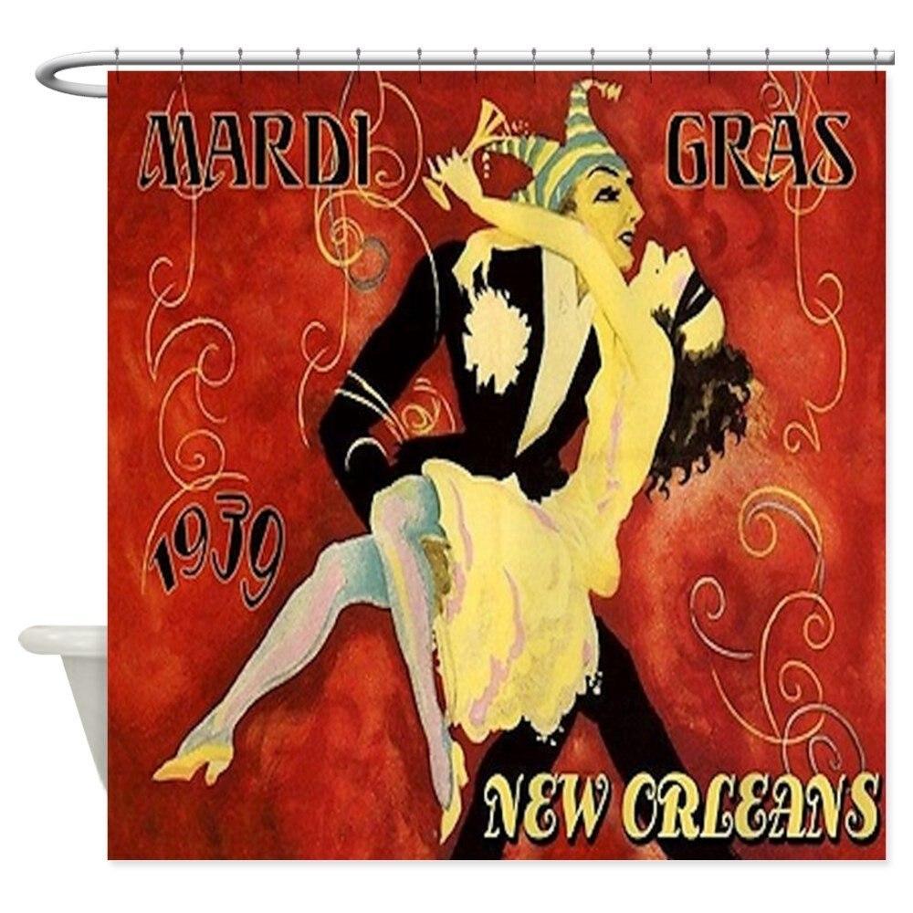 Mardi Gras - Decorative Fabric Shower Curtain (69x70)