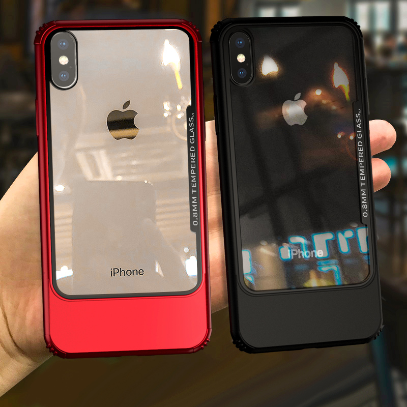 Original Yagoo 2 in 1 colorful phone case for Apple iphone X hard PC tempered glass cases for iPhone x back cover luxury funda