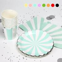Birthday Party Dress Up Silver Tableware Set Disposable Red Cup Silver Silver Side Paper Tray Paper