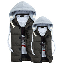 men's down jacket veste hiver homme parka pluma hombre man winterjas heren 2015 garment coat  mens puffer down jacket waistcoat