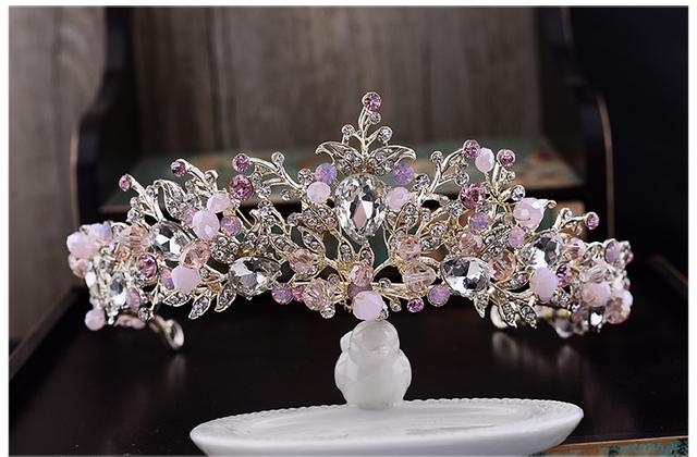 Novas Flores de Cristal Tiara De Noiva Headwear Pérola Acessórios de Cabelo Faixa de Cabelo Strass Acessórios Do Casamento Chapéus De Noiva