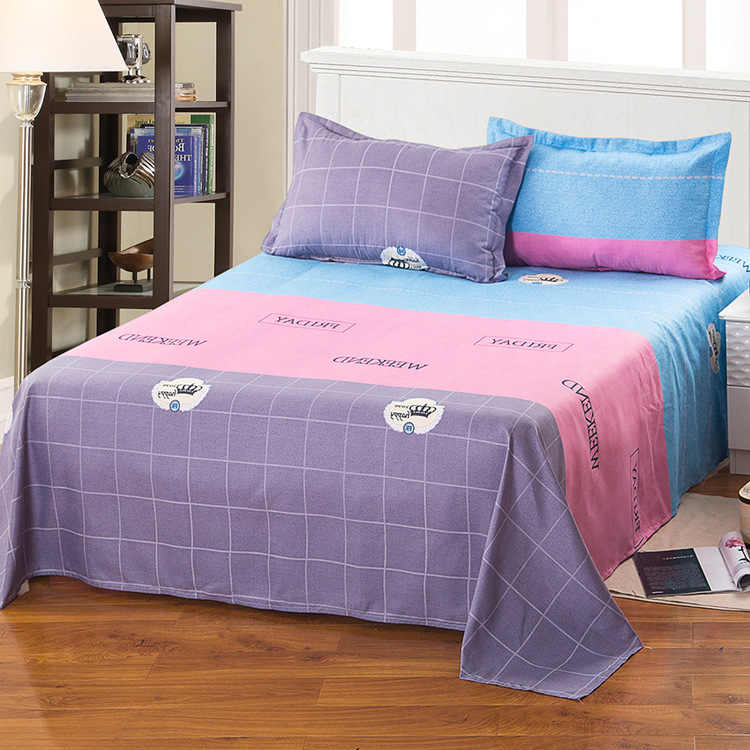 High quality Large size printed Bed sheets  cotton bedding sheets.230X230cm