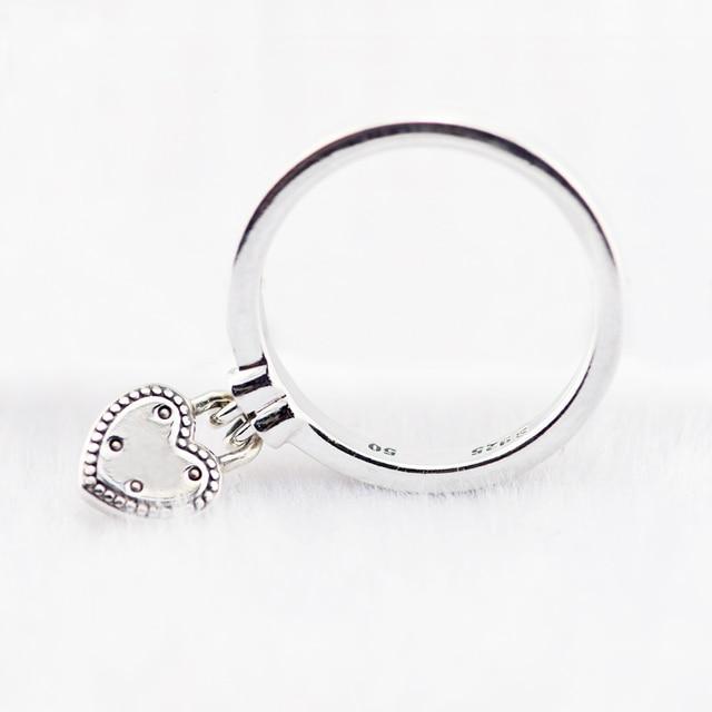 Anello Love Lock Anelli D'argento Per Le Donne Degli Uomini con Clear CZ Anel Feminino 100% 925 Sterling Gioielli In Argento Anelli di Nozze
