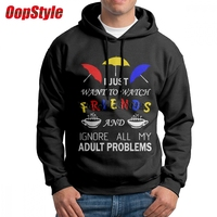 Watch Friends TV Show Hoodie For Men Long Sleeve Shirt Dropshipping Winter USA Size