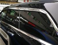 Abs 크롬 플라스틱 창 바이저 환풍 그늘 태양 비가 가드 자동차 액세서리 지프 나침반 2017 2018 자동차 스타일링