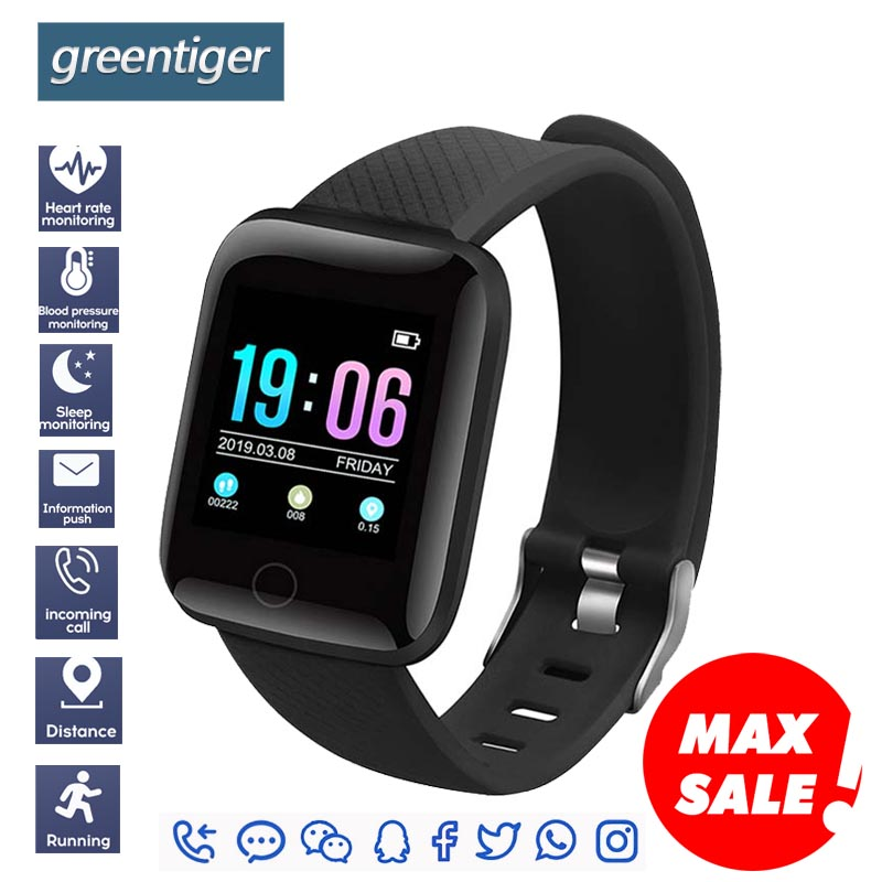 Greentiger D13 Smart Watch IP67 Waterproof Fitness Tracker Heart Rate Blood Pressure Monitor  Sports Smart Bracelet Android IOS xanes a6s