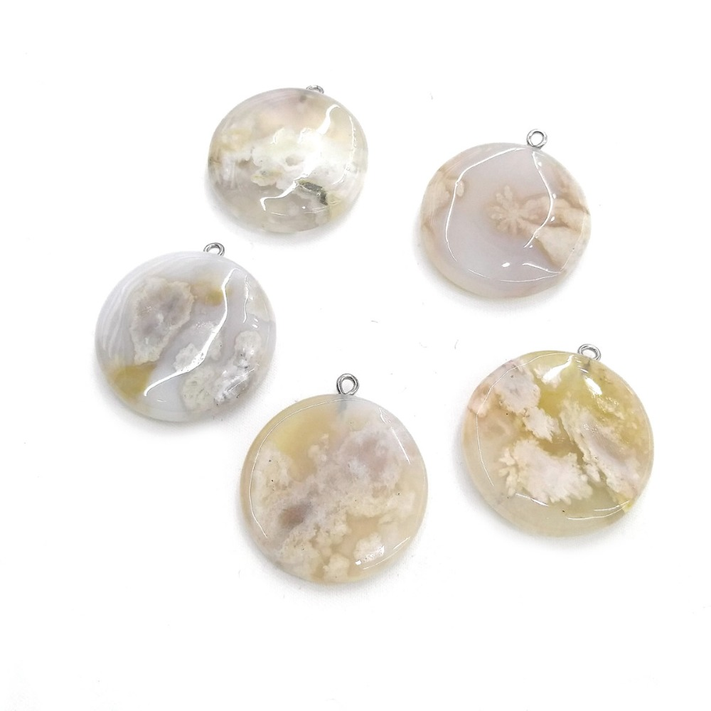 Natural stone agates pendants jewelry for jewelry making size 30x30mm