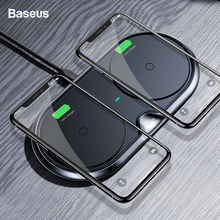 Baseus Dual Wireless Charger For iPhone X Samsung S9 S8 Fast Wireless Charging Pad