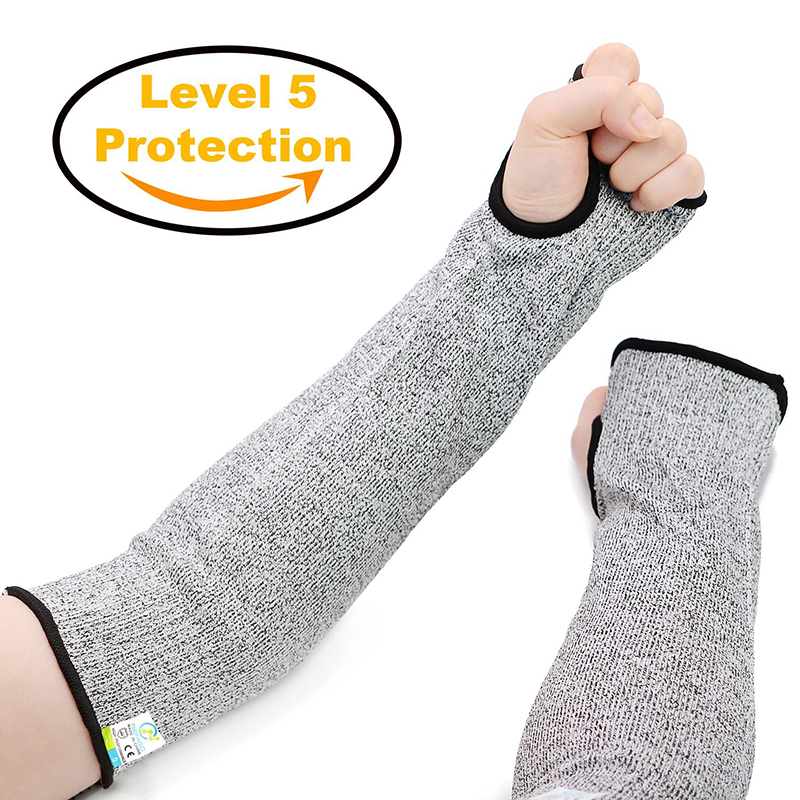 new-grey-safety-cut-heat-resistant-sleeves-arm-guard-protection-armband-gloves-workplace-safety-protection-defensive-laborgloves