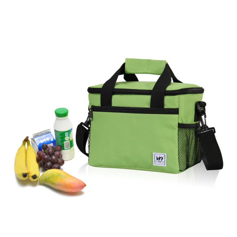 600D Material 24*16*19 CM Large Insulated Thermal Cooler Bag for Food Storage, Picnic, Men Women Tote Handbags