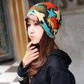 Autumn and winter seasons Flower women Hat,star women cap,Korean Baotou piles cap graffiti rabbit scarf cap hat,Outdoor warm cap