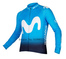 zomer Long sleeves EUROPE TOUR movistar team Spanish Professional champion ciclismo ropa cycling jersey triathlon