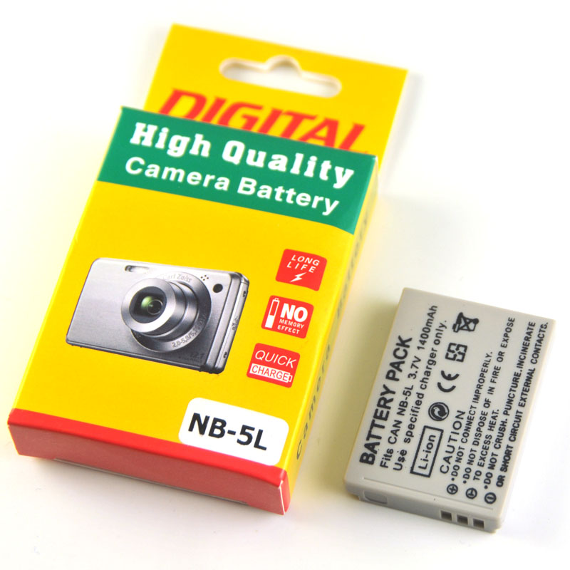 1400mAh NB-5L NB 5L NB5L Camera Battery For Canon S110 SX200 SX210 SX220 SX230 IS HS IXUS 850 870 800 860 990 SD 950 970 ismart replacement nb 5l 3 7v 1200mah battery for canon powershot sx230hs sx210is more page 1