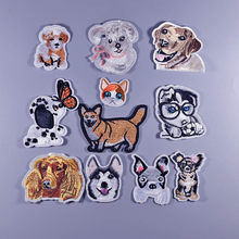 dog clever boy DIY Iron On Patch Clothes Embroidery Applique Ironing Clothing Sewing Supplies Decorative Badge Sew On Badges(China)