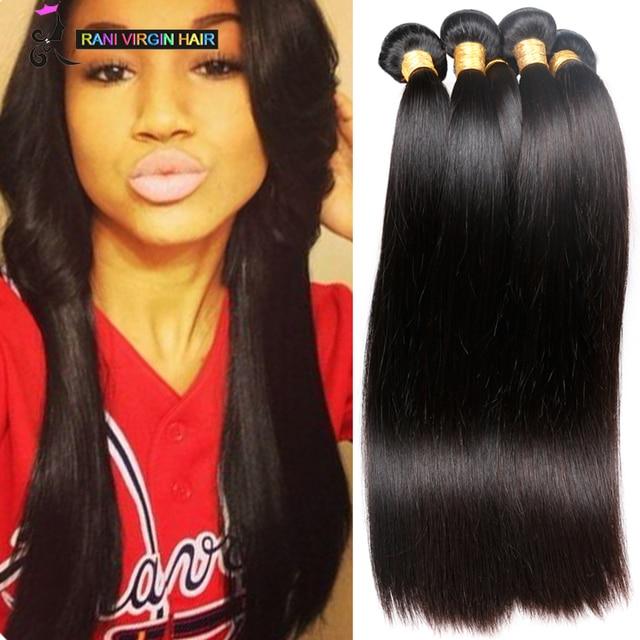 8a Mink Brazilian Straight Hair Weave Bundles 3 Pcs Lots Unprocessed