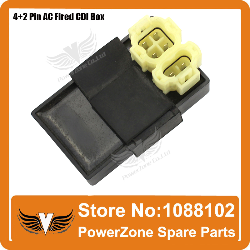 AC Feuerte 6pin 4 + 2 Pins CDI Fit zu GY6 125cc 150cc Motorcyle Roller ATV Quad Go Kart Buggy freies Verschiffen