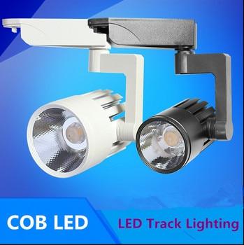 2 stücke 110 V 220 V led-strahler gleis licht lampe 30 Watt COB FÜHRTE schienenlicht