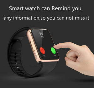 Image 3 - Smart Uhr Große scren touch Bluetooth fitness Uhr 2G Netzwerk mit SIM karte Call nachricht Erinnerung Schrittzähler Android tragen touch