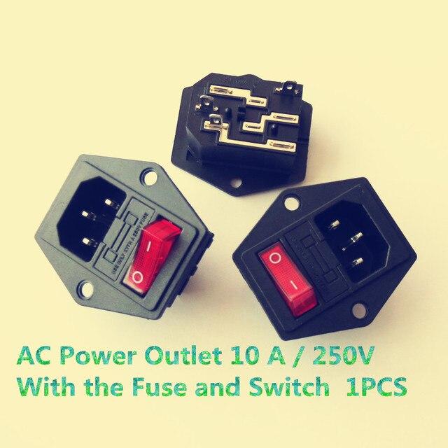 1 STÜCKE YT627 AC Steckdose 10 A/250 V Elektrische Steckdose Kabel ...