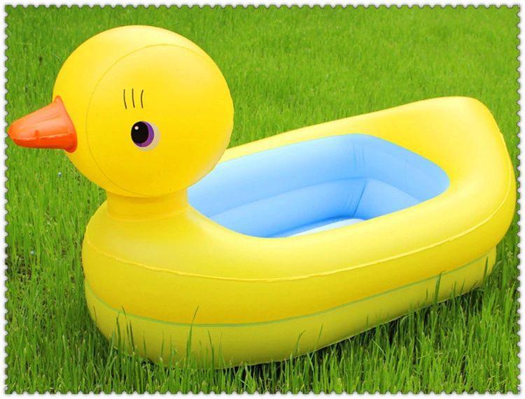 Baby Bath Pool Cartoon Ducks Swimming Pool Large Inflatable Bath Tub Kids Pool Piscinas Grandes