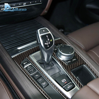 Airspeed Carbon Fiber Car Gearshift Console Frame Sticker Gearshift Panel Decoration For BMW X5 F15 X6