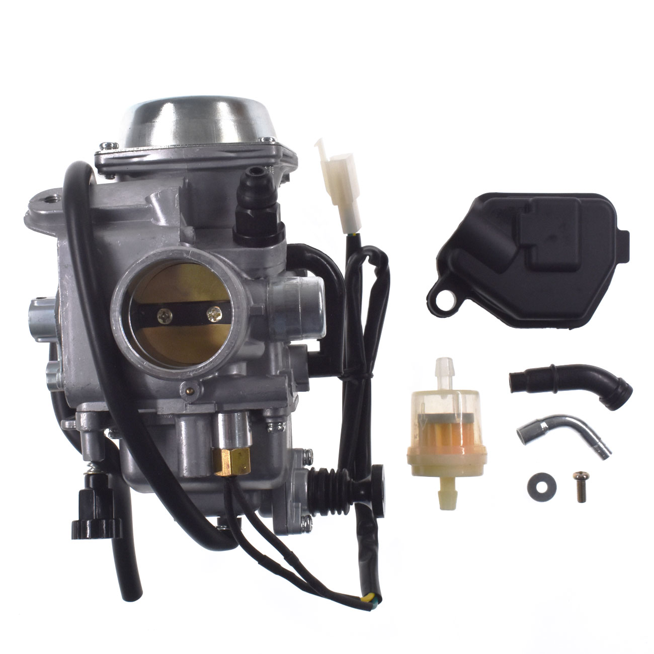Carburetor Carb FOR Honda TRX 450 Foreman 2002 2003 2004 16100-HN0-672 black throttle base cover carburetor for honda trx350 atv carburetor trx 350 rancher 350es fe fmte tm carb 2000 2006