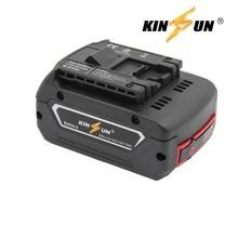 KINSUN Replacement Power Tool Battery 18V 4.0Ah Li-Ion for Bosch Cordless Drill 2 607 336 169 170 BAT609G BAT618G