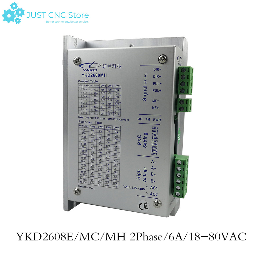 YKD2608MH 2phase Stepper Motor Driver YKD2608MC YKD2608E Match with 57 86 Serial use For CNC Router Engraving Machine
