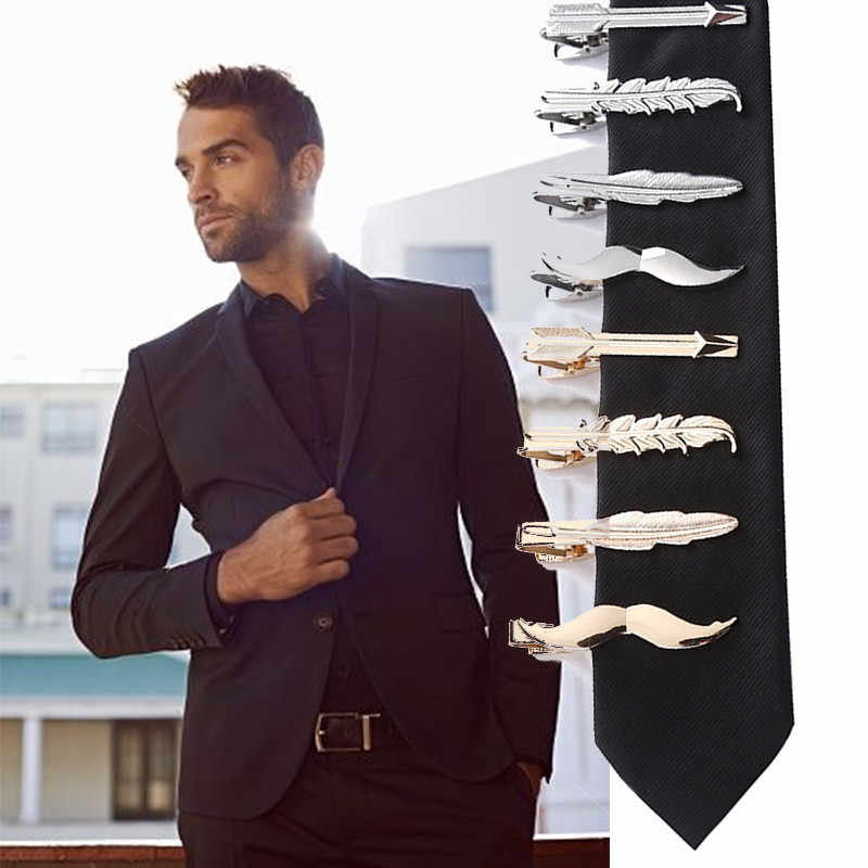 Men Metal Tie Clip Bar Necktie Pin Clasp Clamp Wedding Charm Creative Gifts Clip de corbata de los hombres #5/20