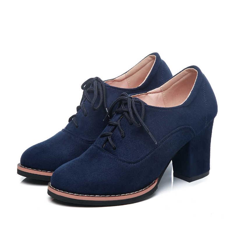 נשים מגפיים בתוספת גודל גבוהה העקב קרסול מגפי חורף מגפיים חמים כחול אדום שחור תחרה עד מגפיים