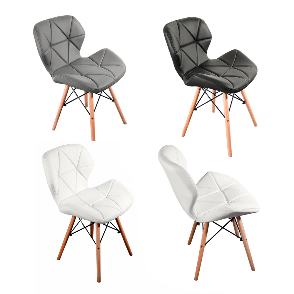 Panana lot de 2 chaises de salle à manger moderne minimaliste salon bureau chaise de salle à café