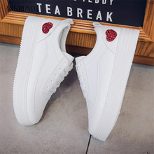 ARSMUNDI Women Sneakers 2018 Fashion Breathble Vulcanized Shoes Leather Platform Lace up Casual Feminino Zapatos Mujer M135