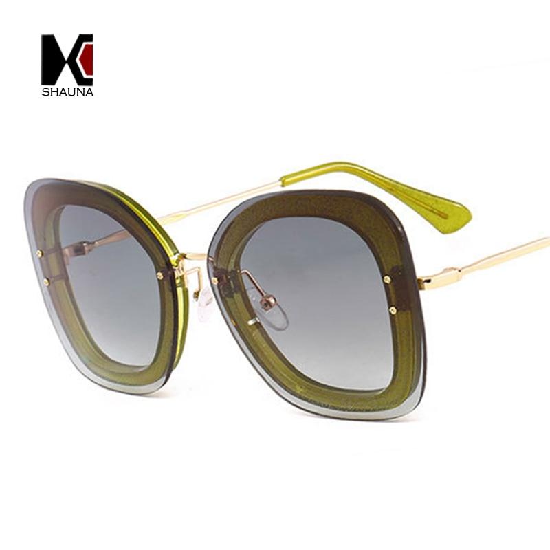 SHAUNA Retro Pearl Effect Women Square Sunglasses Fashion Ladies Pink Mirror Lens Glasses UV400