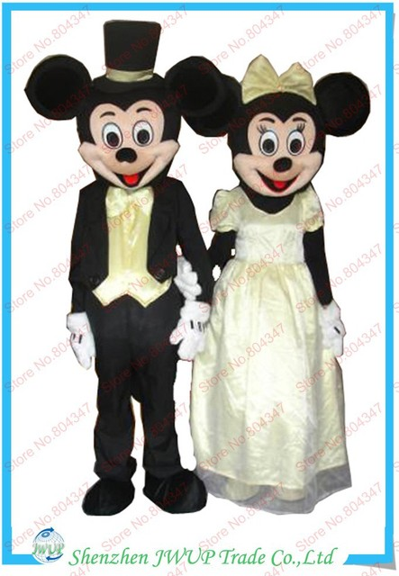 Newest Mickey & Minnie Mouse wedding Dress Halloween costumes minnie ...