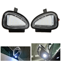 2x 18 3528 SMD White LED Under Side Mirror Puddle Lamps for VW CC Golf 6 Cabriolet Passat (B7) Touran 6000-6500K 12V