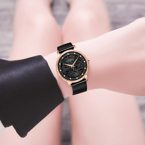 Image 5 - Women Rhinestones Watches Fashion White Flower 3D Engraving Dial Face Japan Movt Waterproof Top Luxury Brand Ladies Watches