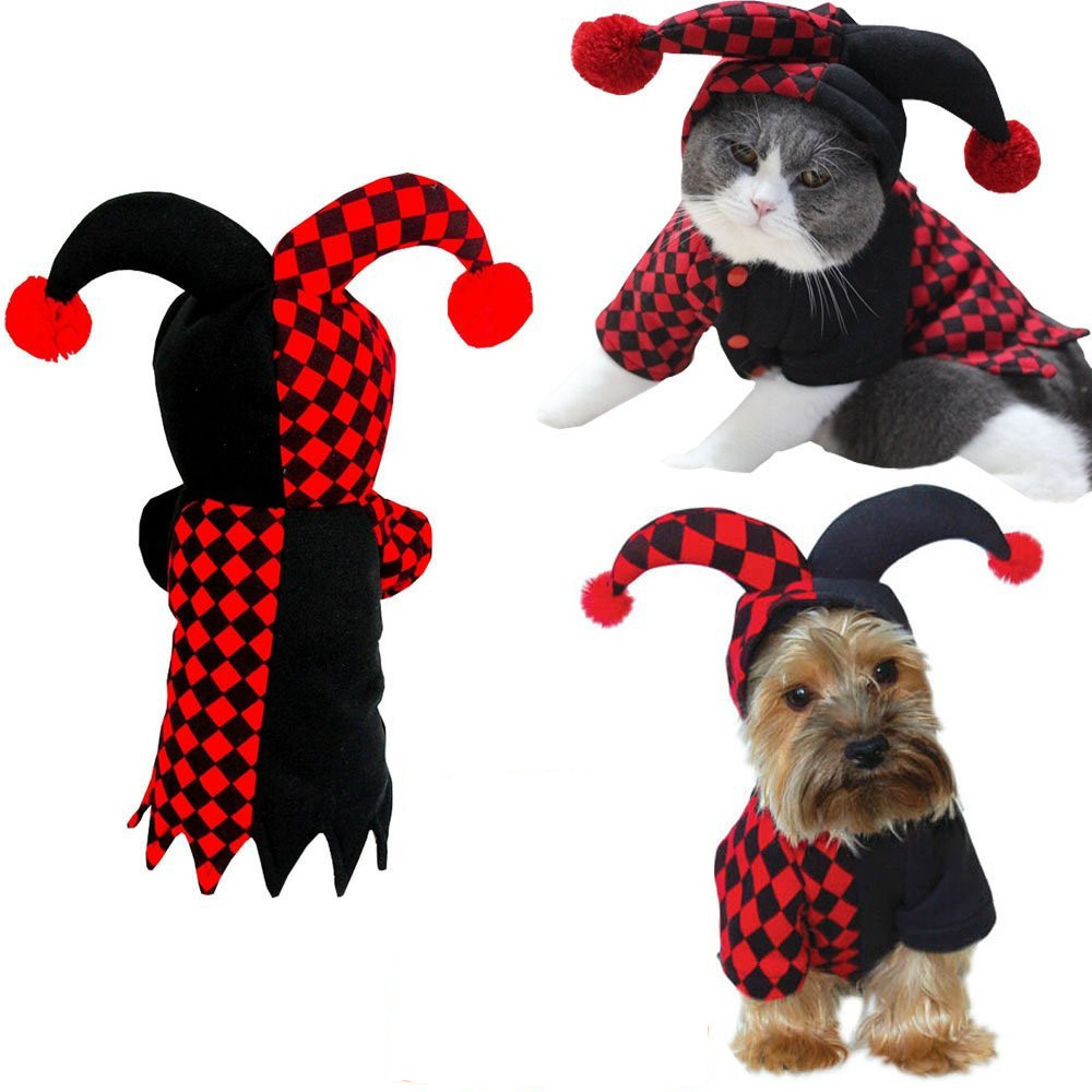 Dog Hooded Clown Halloween Costume  2