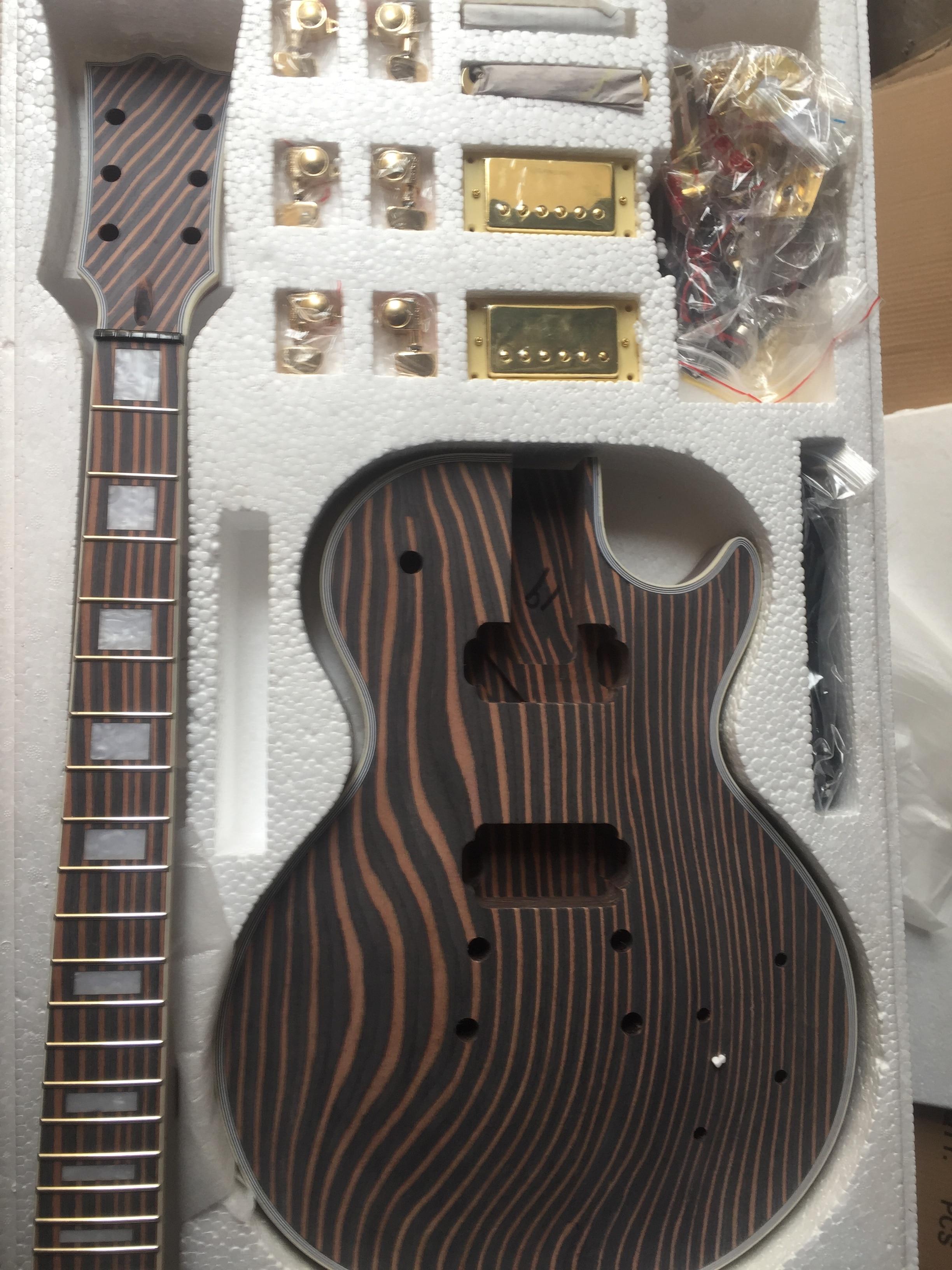 Costume de guitare électrique bricolage/produits Semi-finis Style zèbre LP