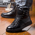 KUYUPP Ankle Boots Men Skate Shoes Winter Booties 2016 Fashion Flat Heels Lace Up Men's Boots High Top Casual Men Shoes Y73