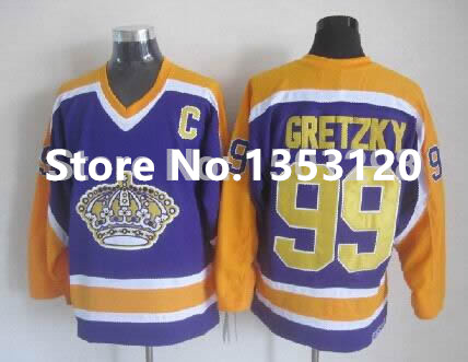 reputable site 31d30 6ebdb los angeles kings 99 wayne gretzky yellow throwback ccm jersey