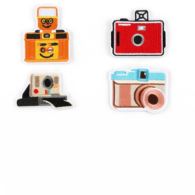 DOUBLEHEE A Câmera Adesivo Pasta de Patches Bordados de Ferro Em Patch Para O Vestuário Para O Saco de Roupas Calças