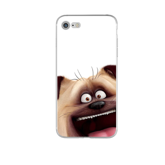 The Secret Life of Pets Cute Cartoon Animals Silicone Soft TPU for iphone 5s 6 7 plus 6s 5 se