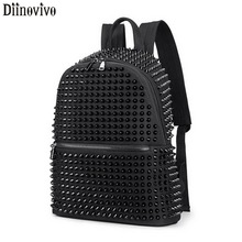 DIINOVIVO Rivet Women Backpack SchoolBag Large Capacity Lapt
