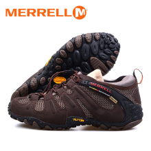 Merrell Men's Cow Leather With Air Mesh Breathable Trip Hiking Shoes For Antiskid Outdoor Sport High Quality Trekking Sneakers