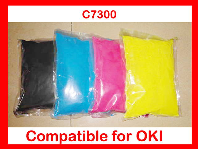 compatible OKI 7300 / C7300 color toner powder refill color powder printer color powder 4KG Free shipping DHL 4 pack high quality toner cartridge for oki c5100 c5150 c5200 c5300 c5400 printer compatible 42804508 42804507 42804506 42804505