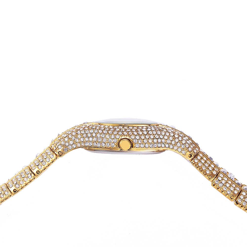 MISSFOX 30mm mały damski zegarek odporny na wstrząsy wodoodporny luksusowy damski Ar metalowy zegarek bransoletki Rhinestone Bu tanie chińskie zegarki