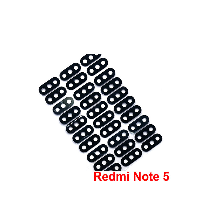 1PCS New Camera Glass Lens Back Rear Camera Glass Lens With Glue Replacement For Xiaomi Redmi Note 5 5A Phone