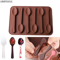 1Pcs Spoon Shape Silicone Mold Jelly Chocolate Cake Mould Decorating DIY Kitchen Baking Tool